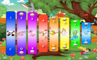 Screenshot of Panda Babies Xylophone Free