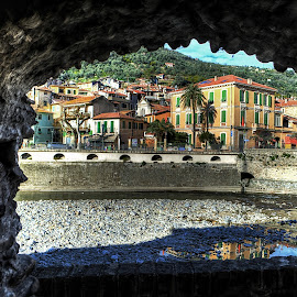 Natural setting by Roberta Sala - City,  Street & Park  Street Scenes ( dolceacqua, hdr, street, italy, street photography )