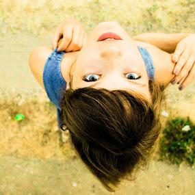 Blue eyes by Teodora Iacob - People Portraits of Women ( look, looking, girl, blue, blue eyes, deep,  )