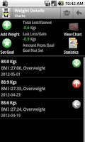 Screenshot of Body & Weight Monitor