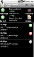 Screenshot of Body & Weight Monitor