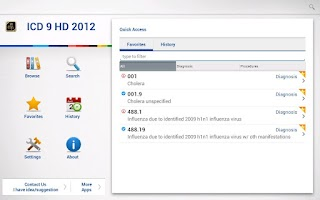 Screenshot of ICD 9 HD 2012