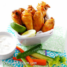 Saffron Chicken Wings
