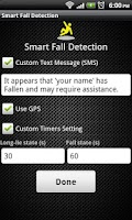 Screenshot of Smart Fall Detection