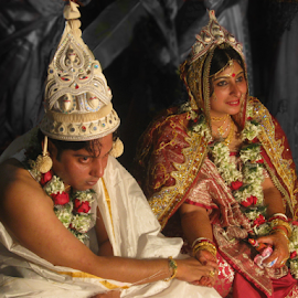 An Indian Couple by Sutanu Mukherjee - Wedding Bride & Groom ( belief, marriage photography, friendship, promise,  )