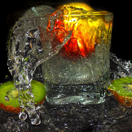 apple in glass by LADOCKi Elvira - Food & Drink Fruits & Vegetables ( glass )
