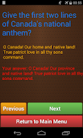 Screenshot of Canadian Citizenship Test