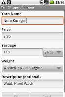 Screenshot of Yarn Shopper