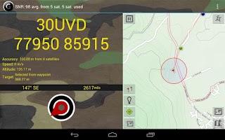 Screenshot of GPS Grid Reference DEMO
