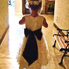 Emmy's First Wedding by Allen Crenshaw - Wedding Getting Ready ( photograph, wedding, digital art, first wedding, ring bearer )