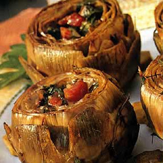Artichokes Stuffed with Pancetta and Parsley
