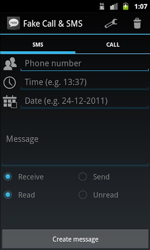 偽のコール&SMS