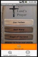 Screenshot of Christian catholic prayers