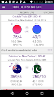 Screenshot of LIVE cricket Scores - cricitch