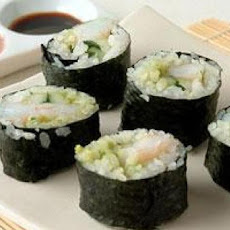Avocado and Shrimp Sushi