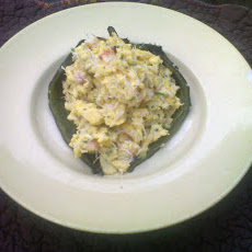 Roasted Poblano Pepper Stuffed with Seafood Eggs