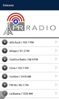 Screenshot of PR Radio