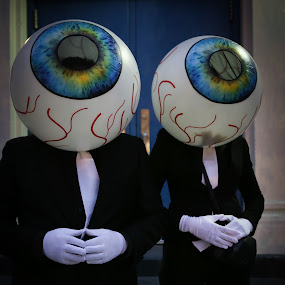 The Eyes Have It by VAM Photography - Public Holidays Halloween ( costume, nyc, man and woman, public holiday, halloween,  )
