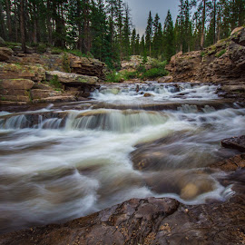 Provo River by Givanni Mikel - Landscapes Waterscapes ( waterfall, trees, provo, rocks, river )