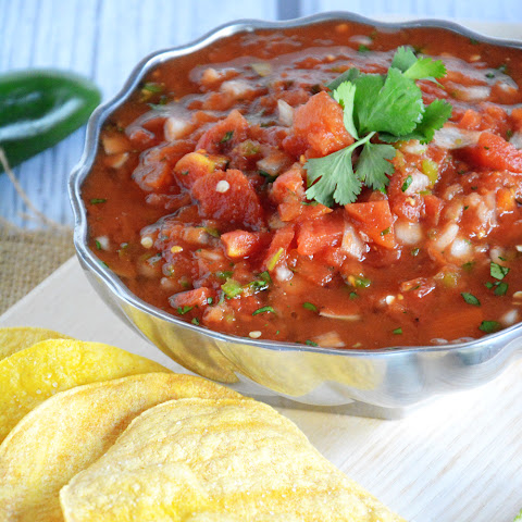 Cantina Style Salsa with Homemade Corn Tortilla Chips