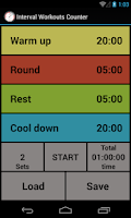 Screenshot of Interval Workout Counter