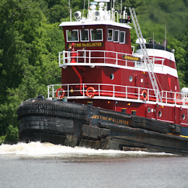 The Justine McAllister at work by Alec Halstead - Transportation Other (  )