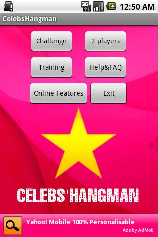 Celebrities Hangman