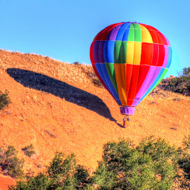 Balloon shadow by Nancy Tharp - Transportation Other