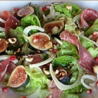 Harvest Salad with Pomegranates, Fennel and Figs