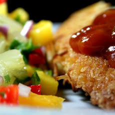 Crispy Coconut Chicken With Mango Salsa