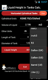 Liquid Height in Tanks - screenshot