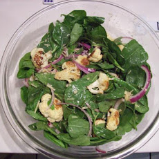 Spinach and Roasted Cauliflower Salad