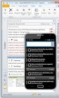 Screenshot of Outlook Task - USB Sync
