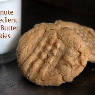 The 13 minute, 3 Ingredient Peanut Butter Cookie