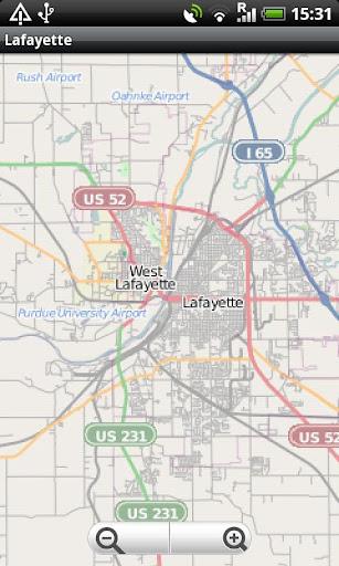 Lafayette Indiana Street Map