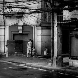 by Francis Cayetano - City,  Street & Park  Street Scenes (  )