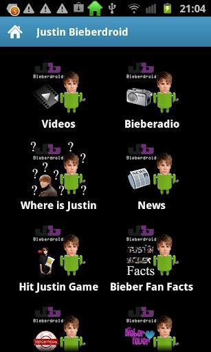Justin Bieberdroid