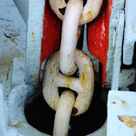 Anchors Away by Jane Jenkins - Artistic Objects Other Objects ( ship part, boat part, details, chain, anchor chain )