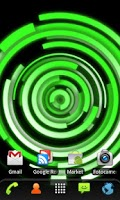 Screenshot of RLW Theme Green Glow