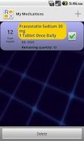 Screenshot of RX Pal Medication Reminder