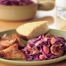 Sausage and Red Cabbage