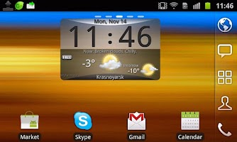 Screenshot of GlassPane - Skin4aWeather