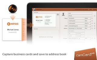 Screenshot of CamCard HD Free-BizCard Reader