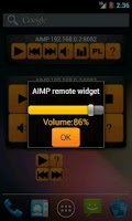 Screenshot of AIMP remote widget