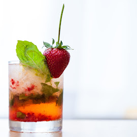 Strawberry Drink by Jim DeMicco - Food & Drink Alcohol & Drinks ( alcohol, drink, glass, strawberry )
