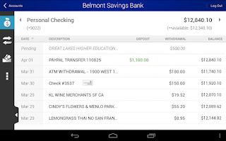 Screenshot of Belmont Savings Bank