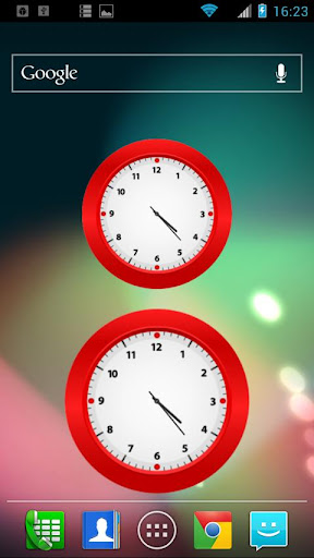 Simple Red Clock Widget