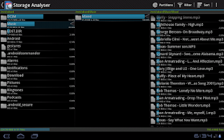 Screenshot of Storage Analyser