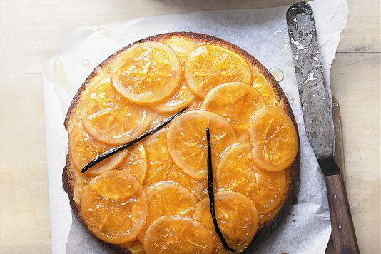 Donna Hay's sticky orange and vanilla upside-down cake Recipe | Yummly