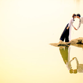 The kiss  by Hoài Quốc - People Couples ( nature, wedding, street, landscape, people )